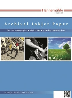 Hahnemuhle Archival Inkjet Paper Smooth A4 280gsm 10647501 - Pack 10 Sheets