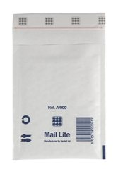 Mail Lite Padded Bubble Envelopes White Ref A/000 110x160mm - Box 100
