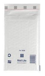 Mail Lite Padded Bubble Envelopes White Ref B/00 120x210mm - Box 100