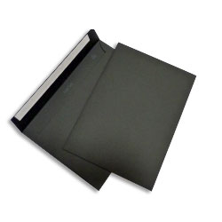 PopSet Black Envelope Superseal 120gsm C5 162x229mm - Box 250