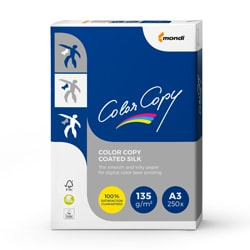 Color Copy Coated Silk Paper (Pk=250shts) FSC A3 135gsm - Box 6 Packs
