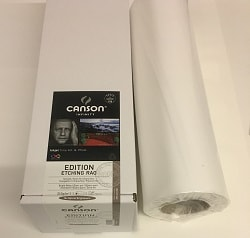 Canson Infinity Edition Etching Rag Inkjet Paper (24in roll) 610mm x 15m 310gsm 206212002 - Each Roll