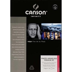 Canson Infinity Photo HighGloss Premium RC Inkjet Paper A3 315gsm 200002285 - Pack 25 Sheets