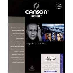 Canson Infinity Platine Fibre Rag Inkjet Paper A4 310gsm 206211035 - Pack 10 Sheets