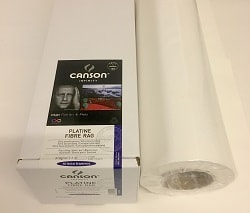 Canson Infinity Platine Fibre Rag Inkjet Paper (24in roll) 610mm x 15m 310gsm 206212012 - Each Roll
