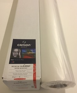 Canson Infinity Museum ProCanvas Lustre (24in roll) 610mm x 12m 385gsm 400053302 - Each Roll