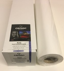 Canson Infinity Rag Photographique Inkjet Paper (36in roll) 914mm x 15m 310gsm 206212018 - Each Roll