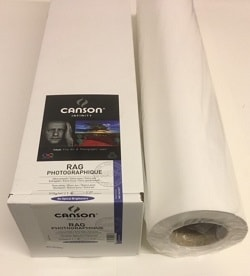 Canson Infinity Rag Photographique Inkjet Paper (44in roll) 1118mm x 15m 210gsm 206212009 - Each Roll