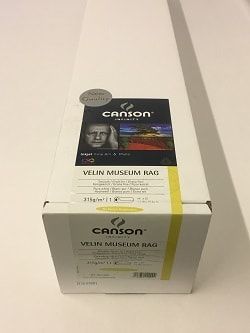 Canson Infinity Velin Museum Rag Inkjet Paper (44in roll) 1118mm x 15m 315gsm 206112009 - Each Roll