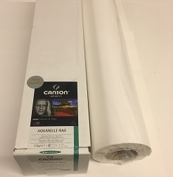 Canson Infinity Aquarelle Rag Inkjet Paper (44in roll) 1118mm x 15m 310gsm 206122004 - Each Roll
