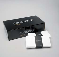 Conqueror Laid Brill White Envelope Superseal FSC 120gsm C6 114X162mm    - Box 500