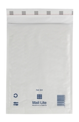 Mail Lite Padded Bubble Envelopes White Ref D/1 180x260mm - Box 100