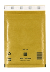 Mail Lite Padded Bubble Envelopes Gold Ref C/0 150x210mm - Box 100