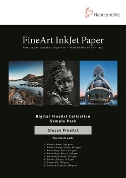 Hahnemuhle Digital Glossy FineArt Sample Pack A3+ (330x483mm) 10640054 - Pack 14 Sheets