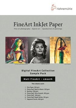 Hahnemuhle Digital Matt FineArt Smooth Inkjet Paper Sample Pack A4 10640303 - Pack 14 Sheets