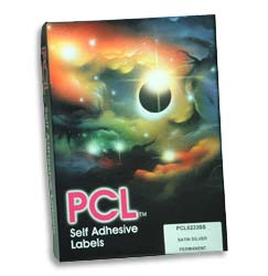 PCL Labels 297x420mm 1 label per A3 sheet Scoreback Fluorescent Orange - Box 100 Sheets