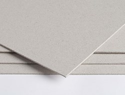 Eskaboard Unlined Greyboard FSC cut to A3 size 750micron (465gsm) - Pack 340 Sheets