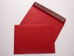 Greetings Card Envelope Peel and Seal Red C5 162X229mm 90gsm - Box 500