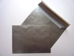Greetings Card Envelope Peel and Seal Silver C6 114X162mm 90gsm - Box 500