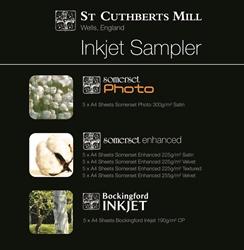 Somerset and Bockingford Inkjet Sample Pack A4 - Pack 30 Sheets