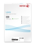 Xerox Monolaser Labels Square Corners A4 105x37mm 16 labels/sht White Permanent 003R97407 - Box 100 Sheets
