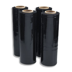 Hand Pallet Wrap Black Film 500mm x 300mtrs 23 micron Blown Standard Core - Pack 6 Rolls