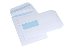 Thames Peel and Seal Business Envelope White 100gsm DL 110 x 220mm Window  22up 17 FLHS - Box 1000