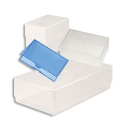 Business Card Boxes Clear PP 97 x 62 x 36mm Standard Depth - Pack 250