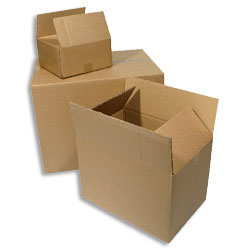 "Single Wall Corrugated Cardboard Box 305x229x203mm (12x9x8"") A4 - Pack 25"