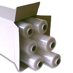 Hand Pallet Wrap Film 400mm x 300mtrs 20 micron Blown Extened Core - Pack 6 Rolls