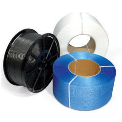 Polypropylene Hand Strapping Tape Black Medium 12mm x 1500 mtrs  - 1 Roll