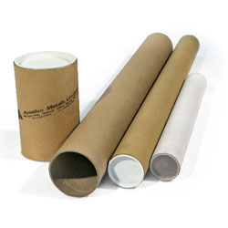 Postal Tubes and End Caps To fit A0, 76mm diameter, 940mm length / 1.5 mm wall - Pack 12