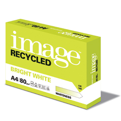 Image Recycled Bright White 100% Recycled Paper FSC A4 80gsm - Box 5 Reams