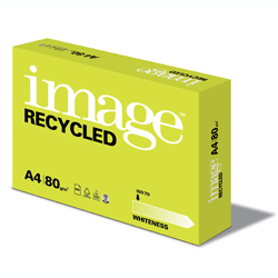 Image Recycled ISO70 Natural White 100% Recycled Paper A4 80gsm - Box 5 Reams