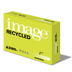 Image Recycled ISO80 Regular White 100% Recycled Paper A3 80gsm - Box 5 Reams
