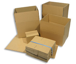 "Double Wall Corrugated Cardboard Box 305x229x77mm (12x9x3"") - Pack 15"