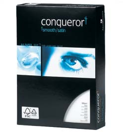 Conqueror Smooth CX22 100% Recycled Paper Diamond White Watermarked FSC A4 100gsm - Box 5 Reams