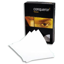 Conqueror Texture Laid Paper Brilliant White Watermarked FSC A4 100gsm - Each Ream