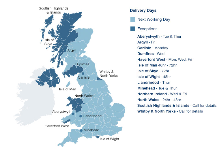UK Regional Delivery & Exceptions
