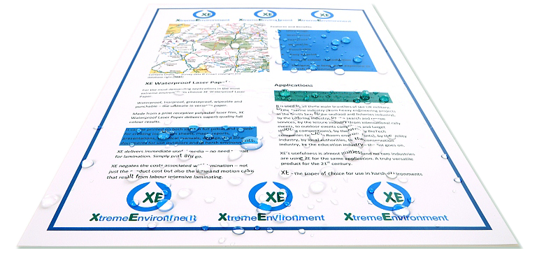 XE Waterproof Paper & Card